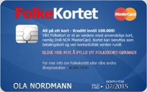 telefinans folkekortet mastercard kredittkort