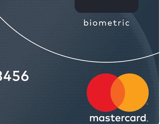 mastercard biometrisk kredittkort