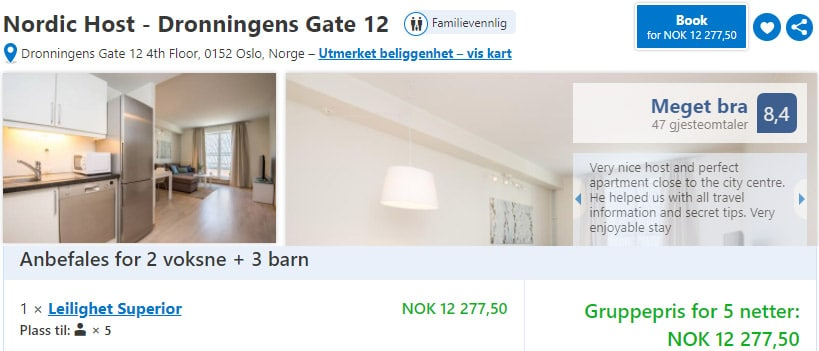 Nordic host hotell Booking
