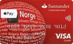 Santander Red kredittkort widget